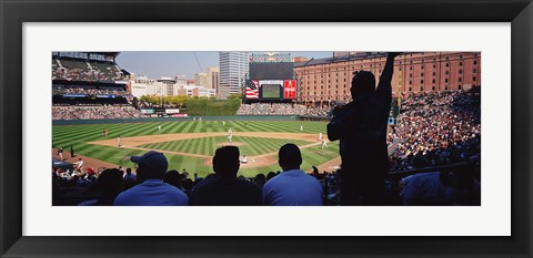 Framed Baseball Game Baltimore Maryland Print