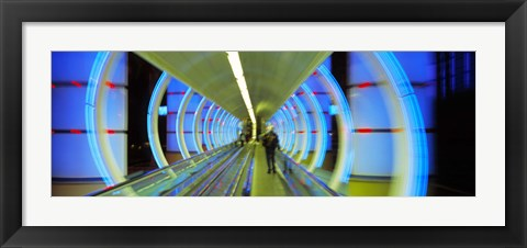 Framed Escalator, Las Vegas Nevada, USA Print