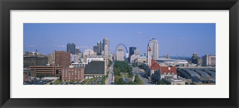 Framed High Angle View Of A City, St Louis, Missouri, USA Print