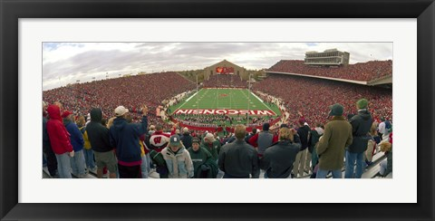 Framed Spectators watching a football match at Camp Randall Stadium, University of Wisconsin, Madison, Dane County, Wisconsin, USA Print