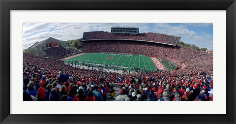 Framed University Of Wisconsin Football Game, Camp Randall Stadium, Madison, Wisconsin, USA Print