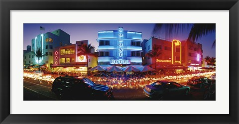 Framed USA, Florida, Miami Beach Print
