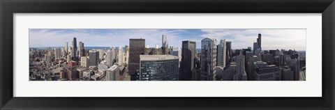Framed Chicago skyscrapers with lake in the background, IL Print