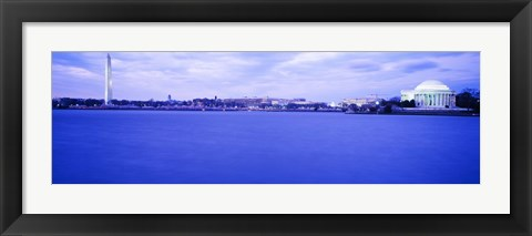 Framed Tidal Basin panorama, Washington DC Print
