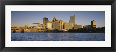 Framed Buildings and Bridge in Pittsburgh, Pennsylvania Print