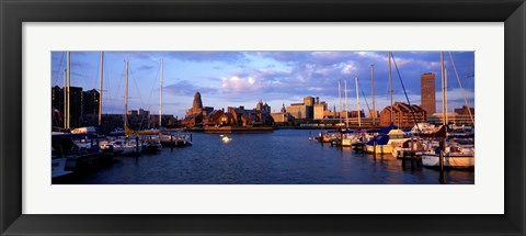 Framed Buffalo, New York Waterfront Print