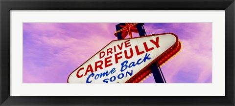 Framed Sign, Las Vegas Nevada, USA Print