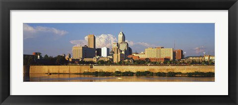 Framed Buildings at the waterfront, White River, Indianapolis, Marion County, Indiana, USA Print