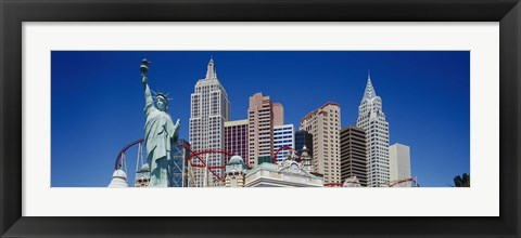 Framed Low angle view of skyscrapers, New York New York, Las Vegas, Nevada, USA Print