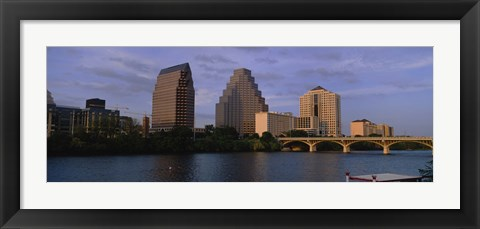 Framed Bridge over a river, Congress Avenue Bridge, Austin, Texas, USA Print
