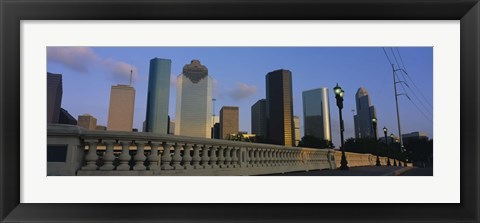 Framed Low Angle View Of Buildings, Houston, Texas, USA Print