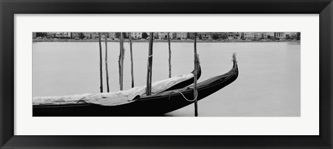 Framed Gondola in a lake, Oakland, California, USA Print