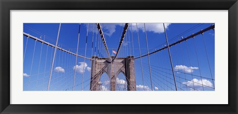 Framed Brooklyn Bridge Cables and Tower, New York City Print