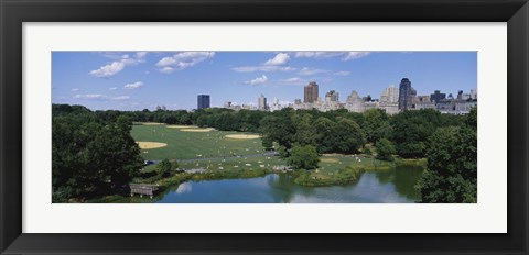 Framed Great Lawn, Central Park, Manhattan, NYC, New York City, New York State, USA Print
