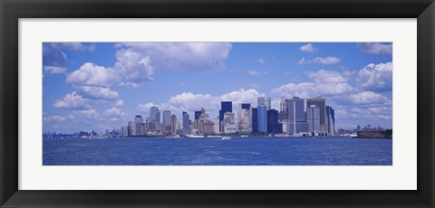 Framed Skyscrapers on the waterfront, Manhattan Print