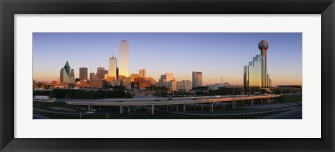 Framed Skyscrapers in Dallas, Texas Print