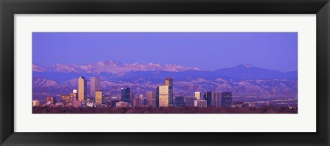 Framed Denver Skyline, Colorado Print