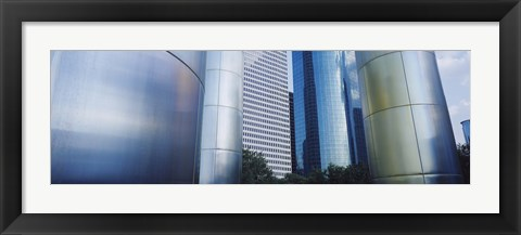 Framed Close up of Buildings in Houston, Texas Print