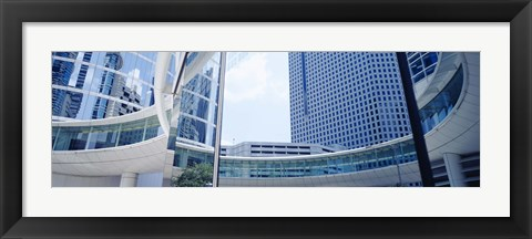 Framed Low angle view of skyscrapers, Enron Center, Houston, Texas, USA Print