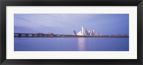 Framed Buildings on the waterfront, Dallas, Texas, USA Print
