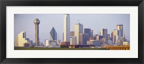 Framed Buildings in a city, Dallas Print
