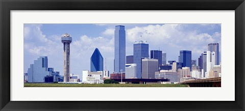 Framed Dallas, Texas Skyline (day) Print