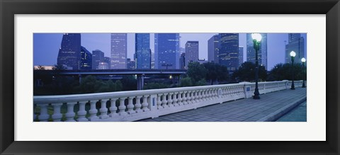 Framed Houston at dusk, Texas Print