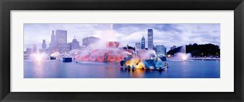Framed Buckingham Fountain Chicago IL Print