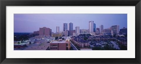 Framed High angle view of a city, Fort Worth, Texas, USA Print