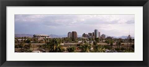 Framed USA, Arizona, Phoenix, High angle view of the city Print