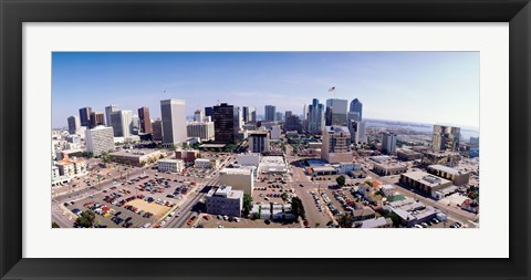 Framed USA, California, San Diego, Downtown District Print