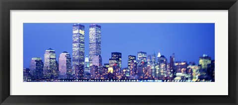 Framed Evening, Lower Manhattan, NYC, New York City, New York State, USA Print