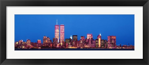 Framed Evening Lower Manhattan New York NY Print