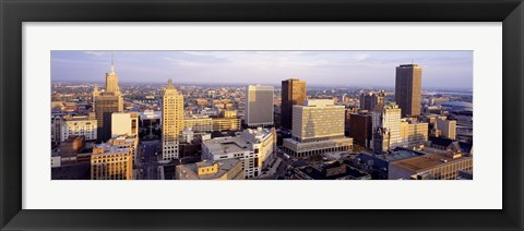 Framed High angle view of a cityscape, Buffalo, New York State, USA Print