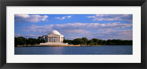 Framed Jefferson Memorial on the Waterfront, Washington DC Print