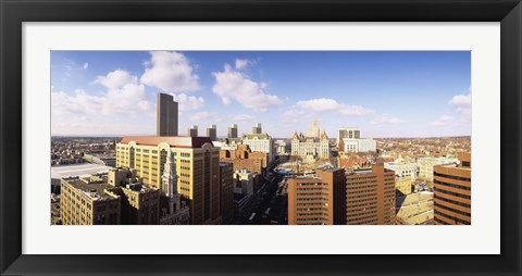 Framed High angle view of a city, Albany, New York State, USA Print
