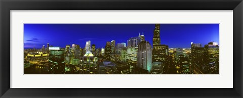 Framed Evening Chicago Illinois Print