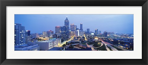 Framed Evening In Atlanta, Atlanta, Georgia, USA Print