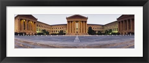 Framed Facade of a museum, Philadelphia Museum Of Art, Philadelphia, Pennsylvania, USA Print