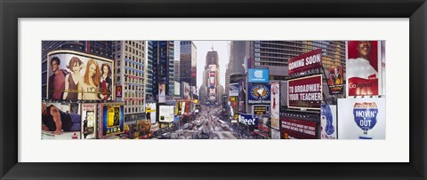 Framed Dusk, Times Square, NYC, New York City, New York State, USA Print