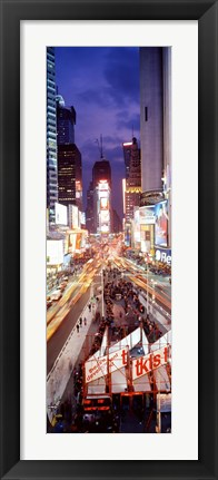 Framed High Angle view of Times Square, NYC Print