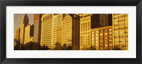 Framed Michigan Avenue Architecture, Chicago, Illinois, USA Print