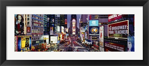 Framed High angle view of traffic on a road, Times Square, Manhattan, New York City, New York State, USA Print