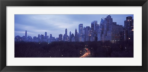 Framed Central Park New York NY Print
