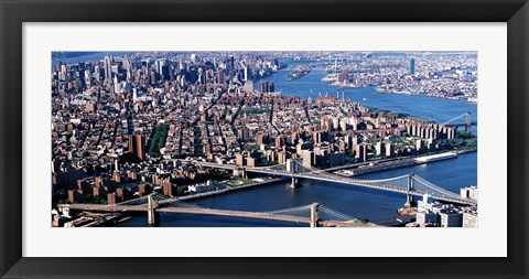 Framed Brooklyn Bridge and Manhatten Print