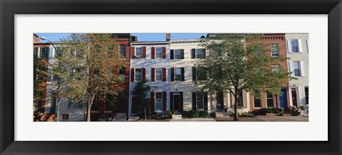 Framed Row homes, Philadelphia Print