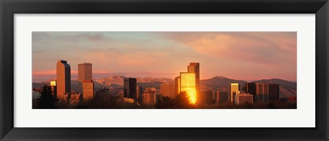 Framed Denver skyline Print