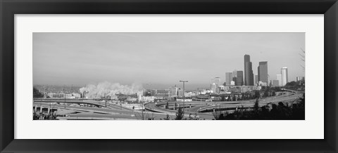 Framed Building demolition near a highway, Seattle, Washington State, USA Print