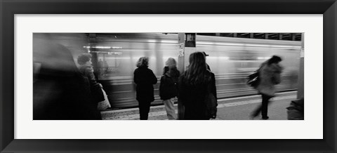 Framed Subway, Station, NYC, New York City, New York State, USA Print
