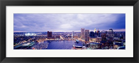 Framed USA, Maryland, Baltimore, cityscape Print